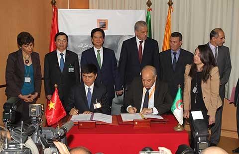 Thủ tướng Việt Nam và Algeria dự lễ ký thỏa thuận hợp tác dầu khí - ảnh 1