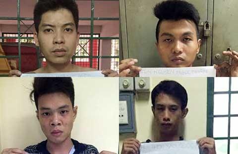 Nhóm kề dao cướp tiệm mắt kính ở quận 10 sa lưới - ảnh 1