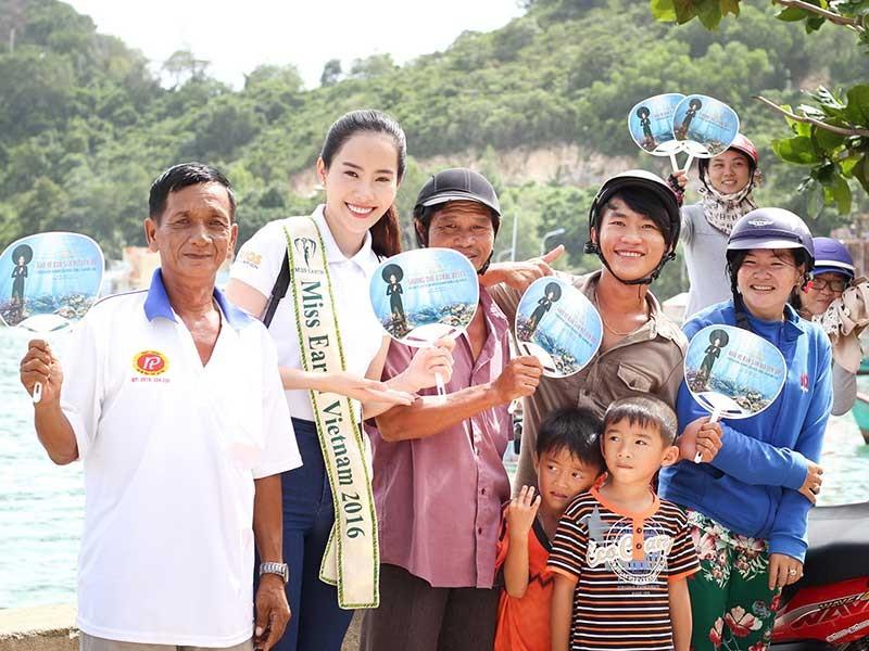Hoa khôi Nam Em đưa đảo Nam Du ra thế giới - ảnh 1