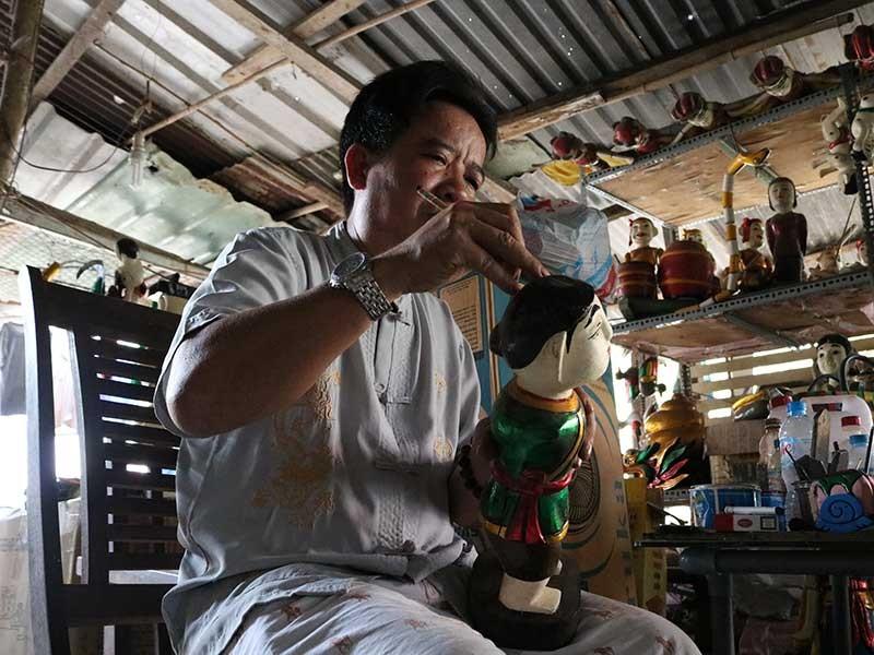 Những con rối nước cuối cùng ở Sài Gòn - ảnh 1