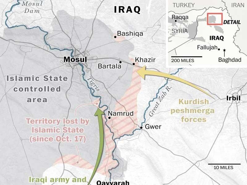 5.000-6.000 quân IS cố thủ trong Mosul - ảnh 1