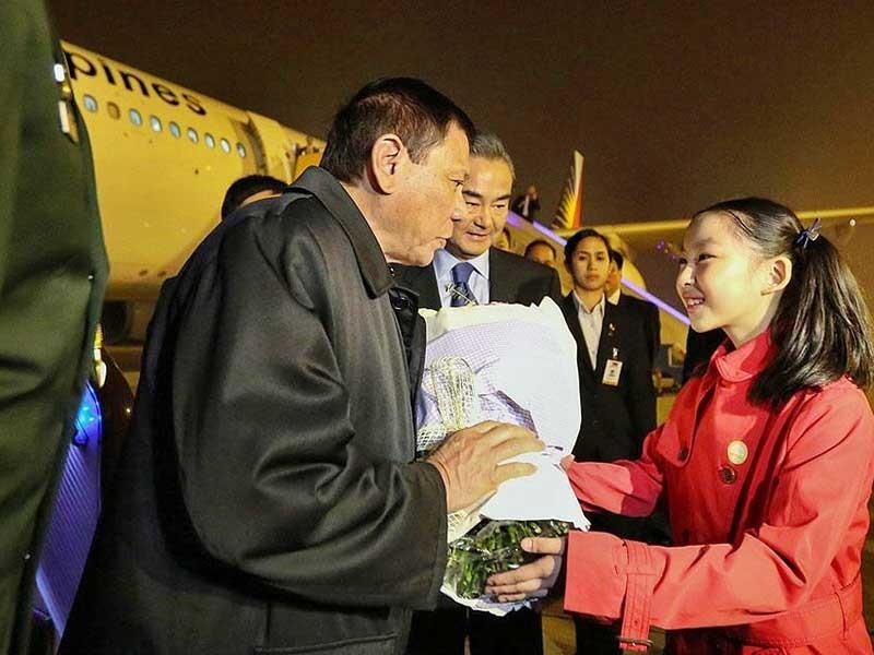 Ông Duterte đã tới Bắc Kinh - ảnh 1