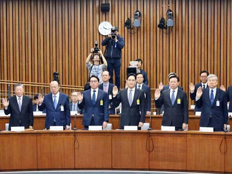 Tám chủ tập đoàn Hàn Quốc điều trần - ảnh 1