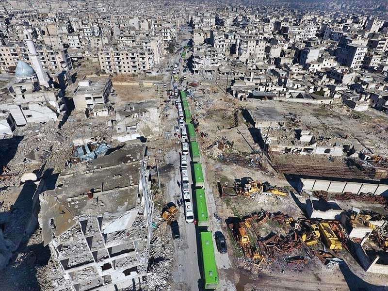 Chiến dịch di tản quân nổi dậy Syria kết thúc  - ảnh 1