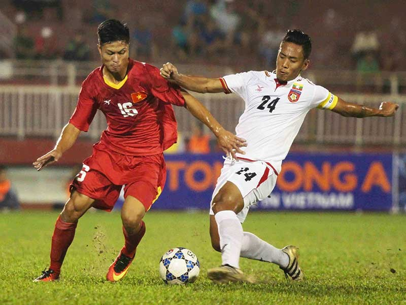 U-21 Việt Nam vất vả chia điểm với Myanmar - ảnh 1