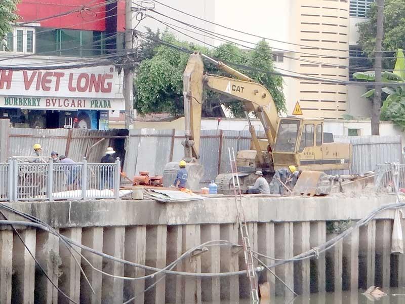 Dự án Nhiêu Lộc - Thị Nghè vẫn lún sụt - ảnh 1