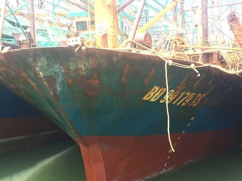 Huyện Phù Mỹ bức xúc tàu bị tráo vỏ thép, thiết bị - ảnh 1