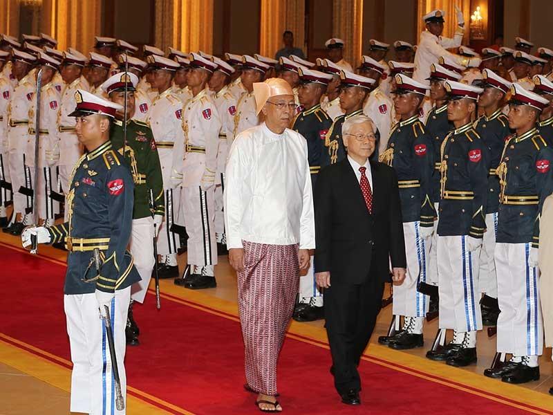 Tổng Bí thư Nguyễn Phú Trọng thăm cấp nhà nước Myanmar - ảnh 1