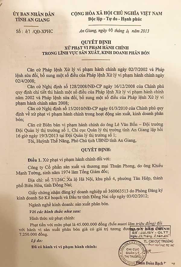 Vụ phân bón Thuận Phong: Phải xử lý đúng bản chất! - ảnh 2