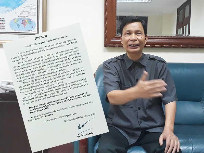 Không cho ông Nguyễn Minh Mẫn họp báo - ảnh 1