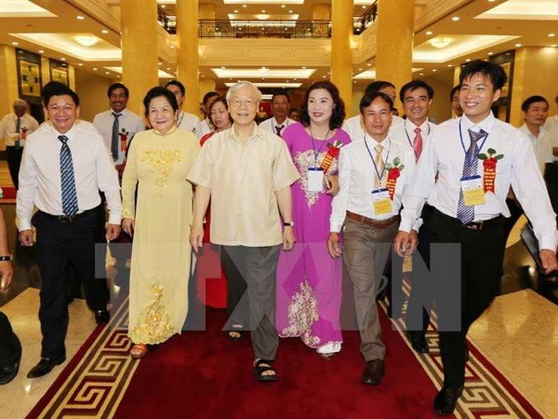 Tổng Bí thư gặp mặt 87 đại biểu nông dân xuất sắc - ảnh 1