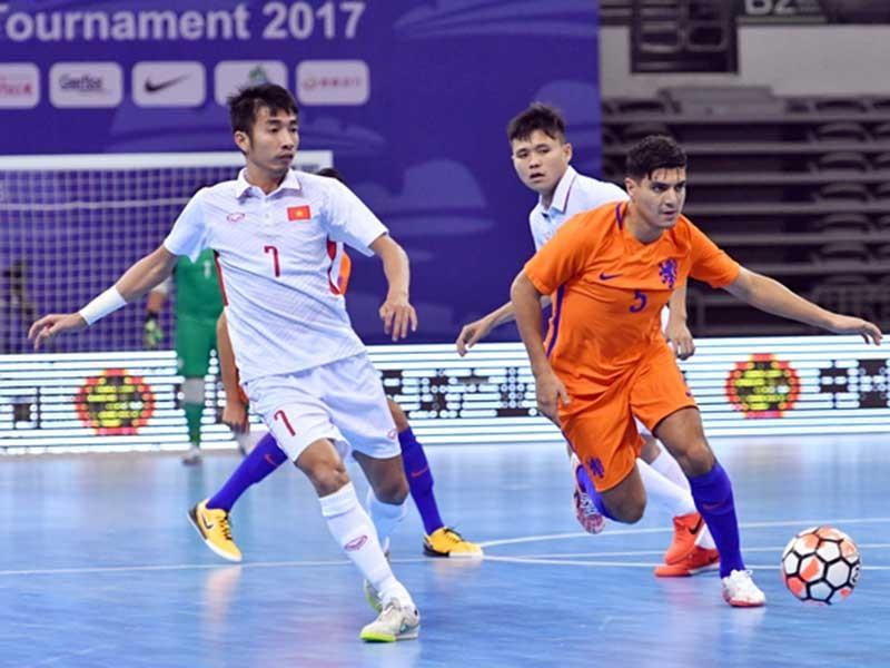 Futsal Việt Nam cầm hòa Hà Lan - ảnh 1