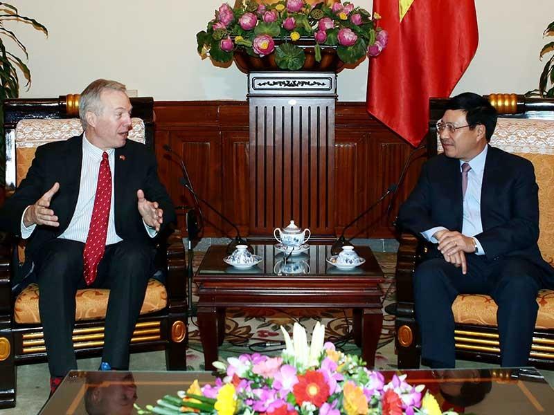 PTT  Phạm Bình Minh tiếp đại sứ Hoa Kỳ chào từ biệt - ảnh 1