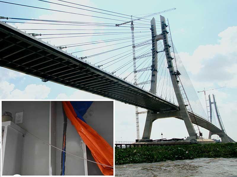 Chuyên gia Hàn Quốc khắc phục vết nứt cầu Vàm Cống - ảnh 1