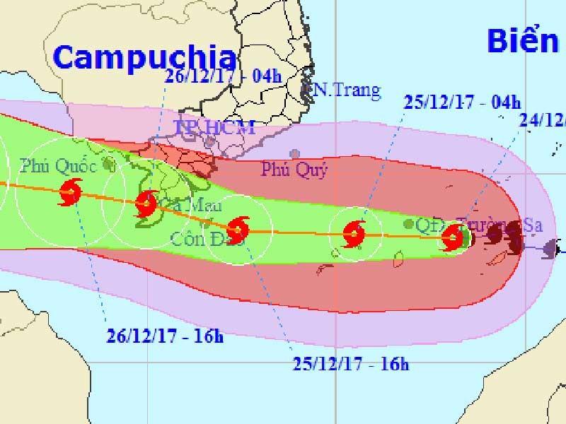 Chiều nay bão số 16 vào biển Bà Rịa-Vũng Tàu đến Cà Mau - ảnh 1