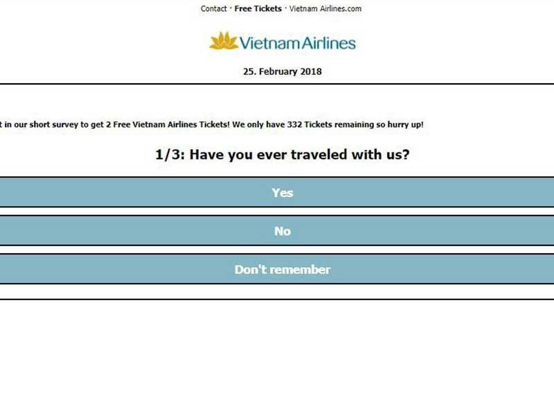 Nguy cơ lộ thông tin cá nhân vì vé máy bay miễn phí - ảnh 1