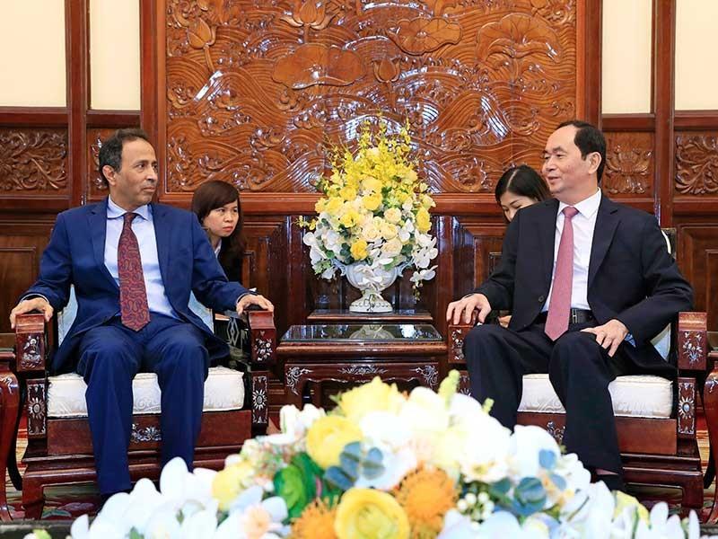 Chủ tịch nước Trần Đại Quang tiếp đại sứ UAE - ảnh 1