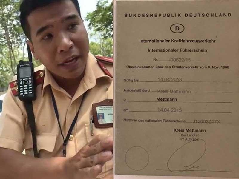 CSGT nhầm lẫn khi từ chối bằng lái quốc tế - ảnh 1