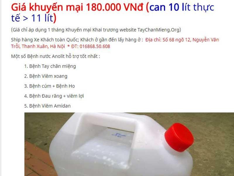 Sự thật về nước A chữa bách bệnh - ảnh 2