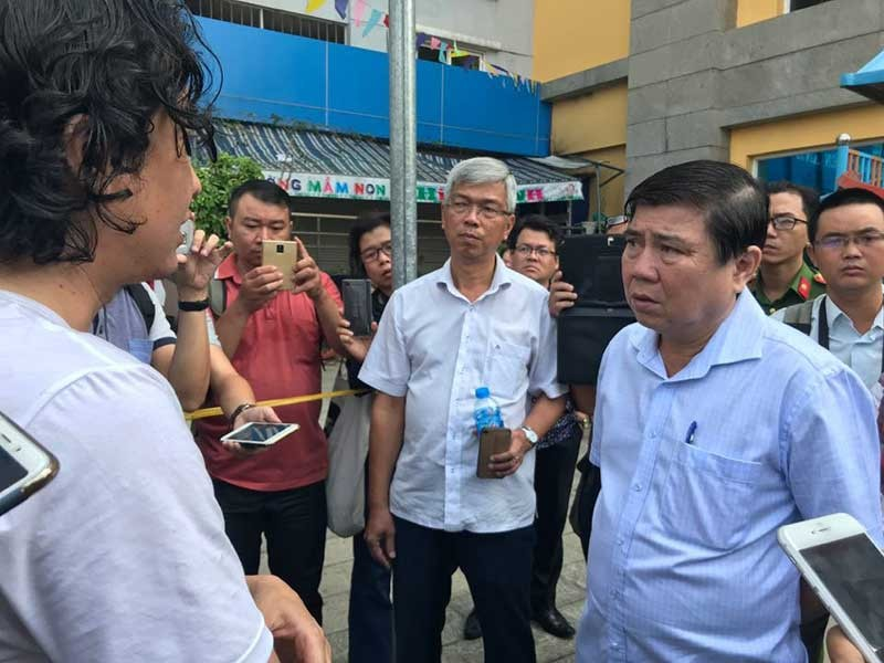 Nhiều lãnh đạo thăm hỏi nạn nhân vụ cháy chungcư Carina - ảnh 1