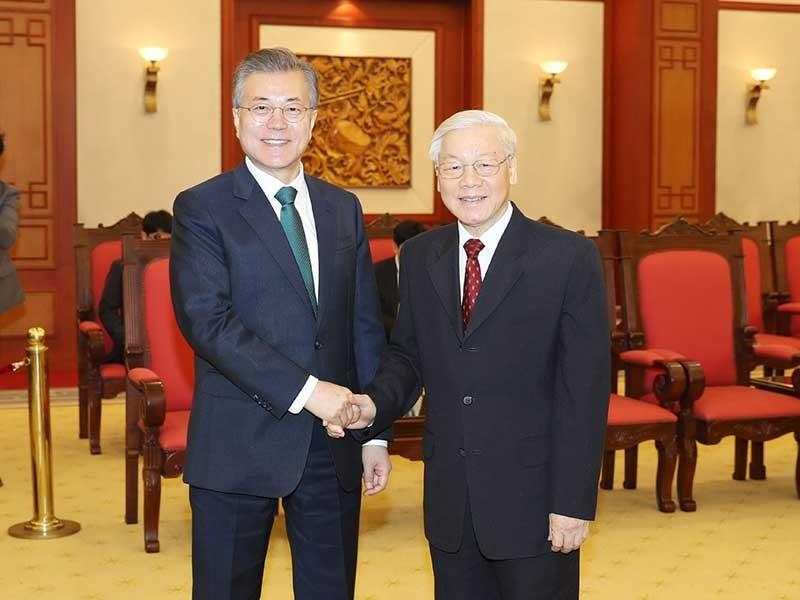 Tổng Bí thư Nguyễn Phú Trọng tiếp tổng thống Hàn Quốc - ảnh 1