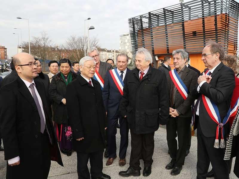 Tổng Bí thư bắt đầu thăm chính thức Cộng hòa Pháp - ảnh 1