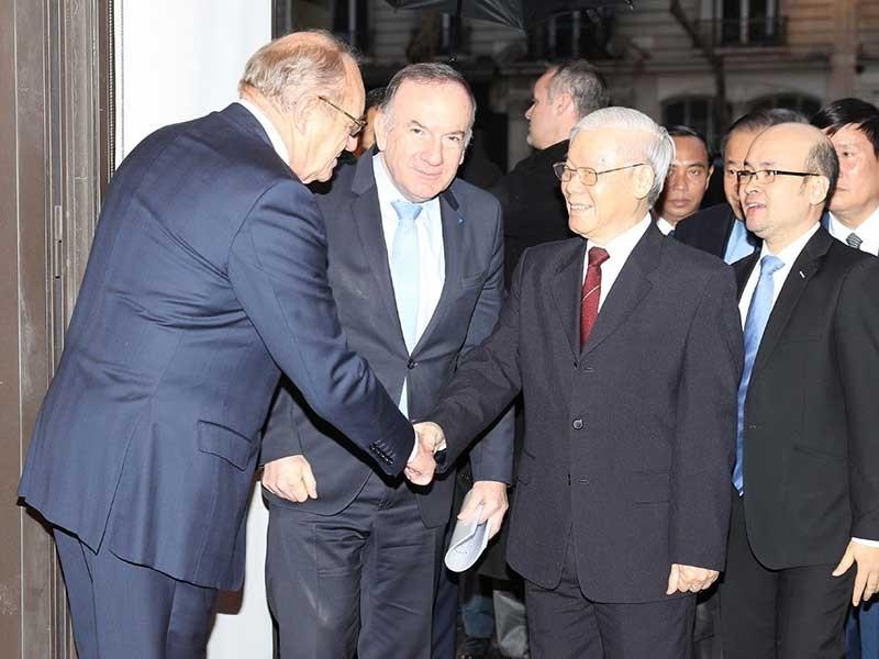 Tổng Bí thư gặp gỡ các doanh nghiệp hàng đầu của Pháp - ảnh 1