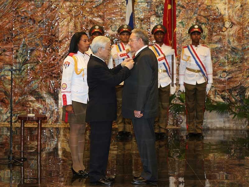 Việt Nam-Cuba ra tuyên bố chung - ảnh 1