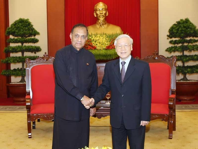 Tổng Bí thư Nguyễn Phú Trọng tiếp chủ tịch Quốc hội Sri Lanka - ảnh 1