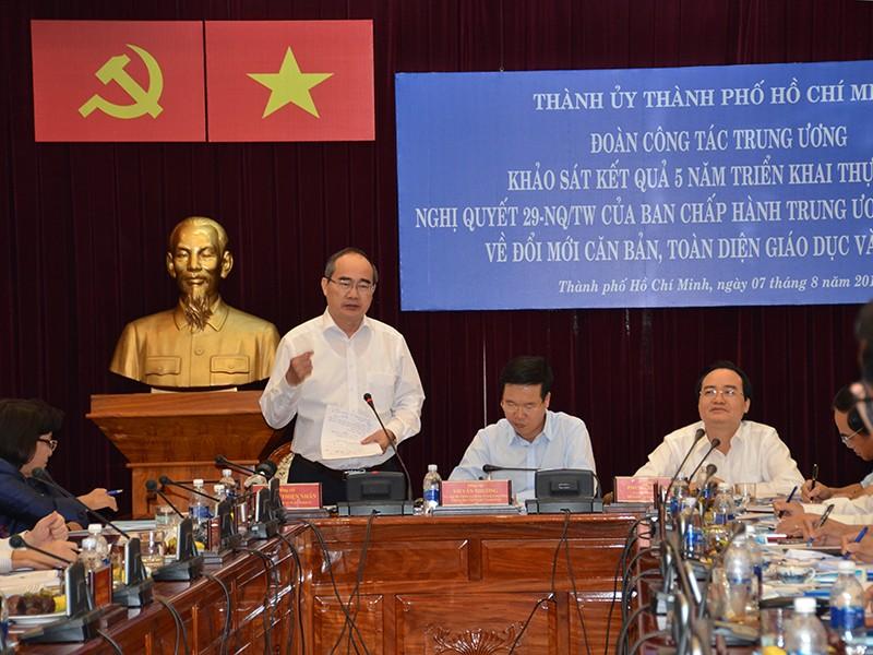 Bí thư Nguyễn Thiện Nhân nói về kỳ thi '2 trong 1' - ảnh 1
