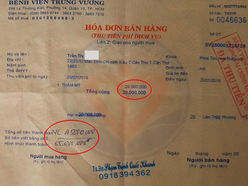 BV Trưng Vương nghi thu tiền nhưng bỏ ngoài sổ sách - ảnh 2
