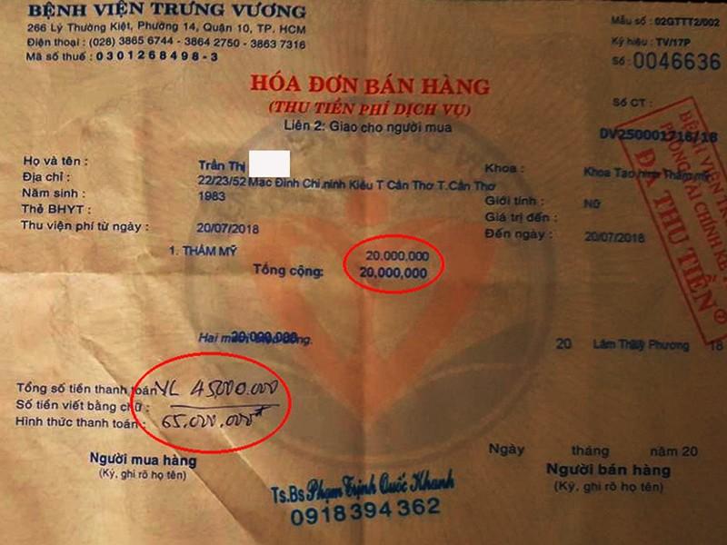 Thanh tra vào cuộc nghi vấn BV Trưng Vương bỏ ngoài sổ sách - ảnh 1