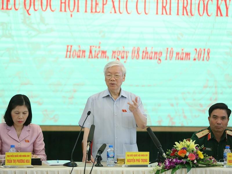 TBT Nguyễn Phú Trọng: Lãnh đạo cấp cao phải nêu gương trước - ảnh 1
