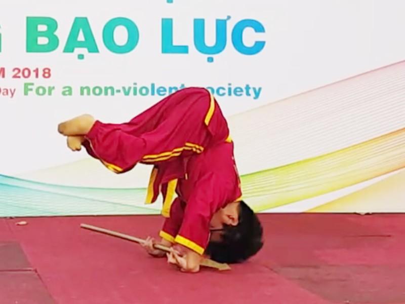'Xe lăn đao' của môn phái Việt Nam võ đạo Tây Sơn Bình Định - ảnh 1