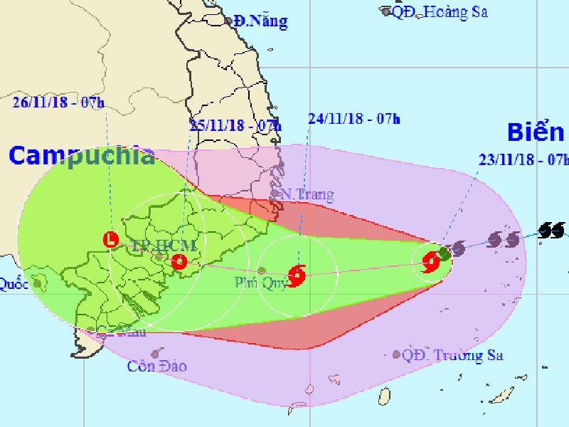 Chiều nay, bão số 9 vào biển Khánh Hòa đến Bà Rịa-Vũng Tàu - ảnh 1