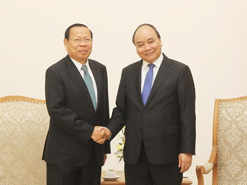 Thủ tướng Nguyễn Xuân Phúc tiếp bộ trưởng Kế hoạch Campuchia - ảnh 1