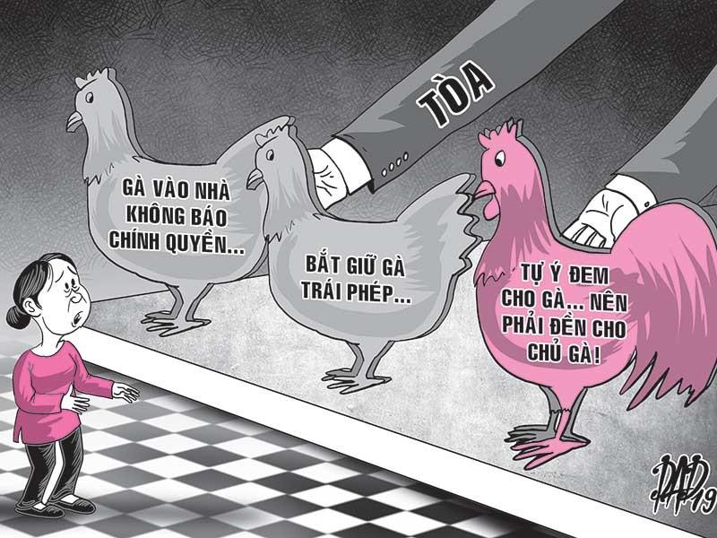 Vụ kiện 3 con gà qua nhà hàng xóm - ảnh 1