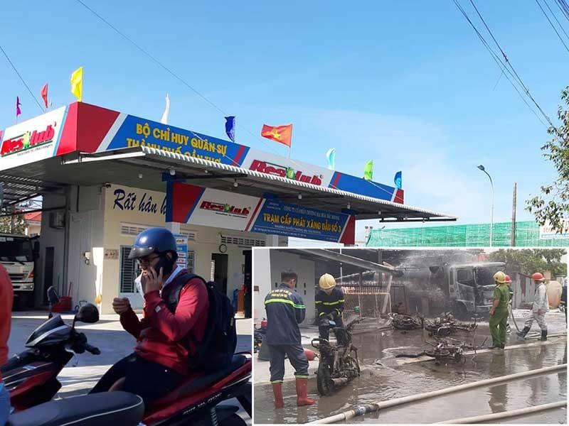 Kinh doanh xăng 'chui' tại trạm từng cháy xe bồn - ảnh 1
