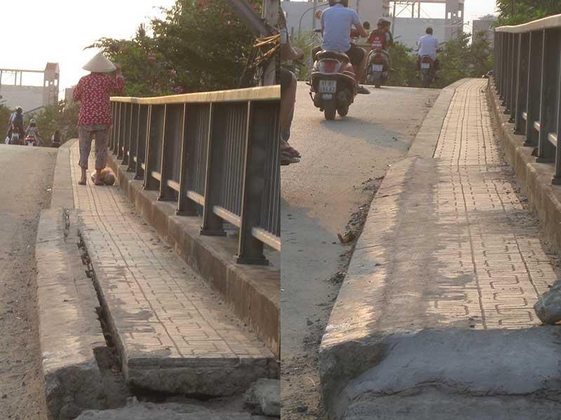 Lề cầu đã được sửa chữa - ảnh 1