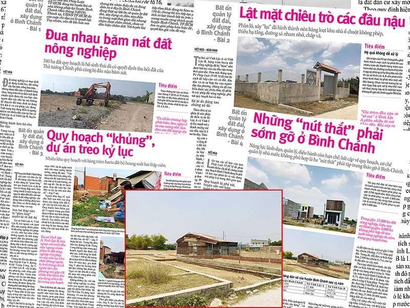 Khởi tố vụ sai phạm đất đai, xây dựng ở Bình Chánh - ảnh 1