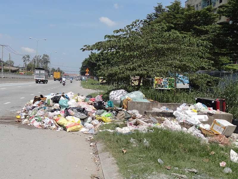 Đã dọn bãi rác giữa đường - ảnh 1