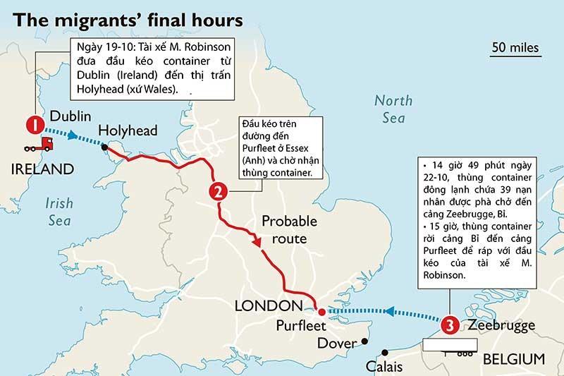 Ba câu hỏi lớn vụ 39 thi thể trong container ở Anh - ảnh 1