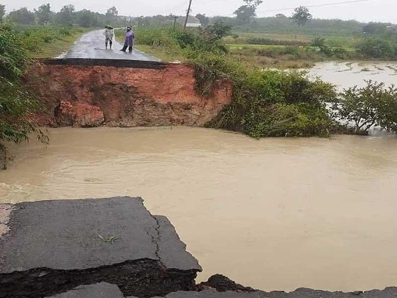 Bão suy yếu, mưa lớn ở Nam Trung bộ, Tây Nguyên - ảnh 1