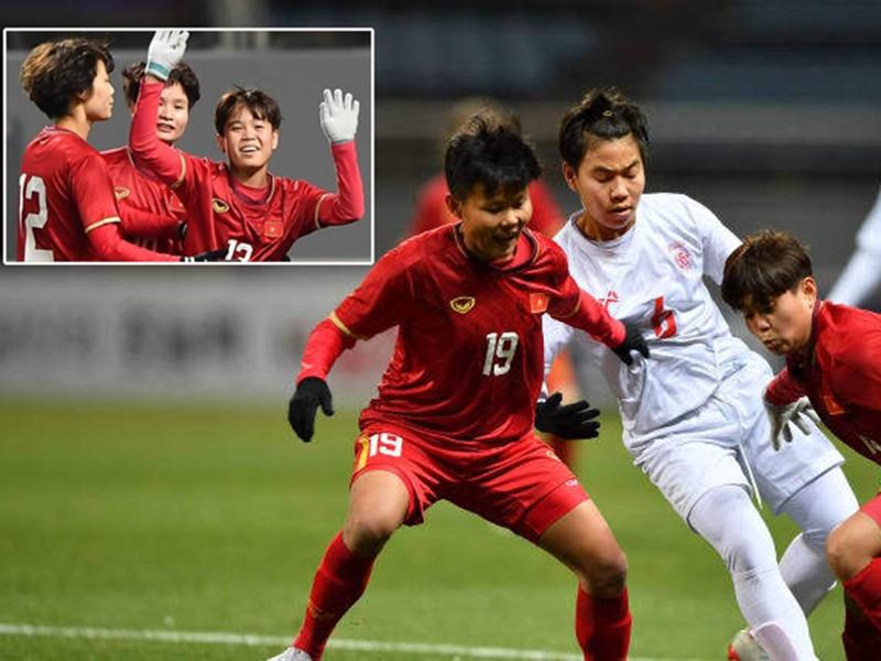 Thắng Myanmar 1-0, tuyển nữ Việt Nam chờ đá play off - ảnh 1