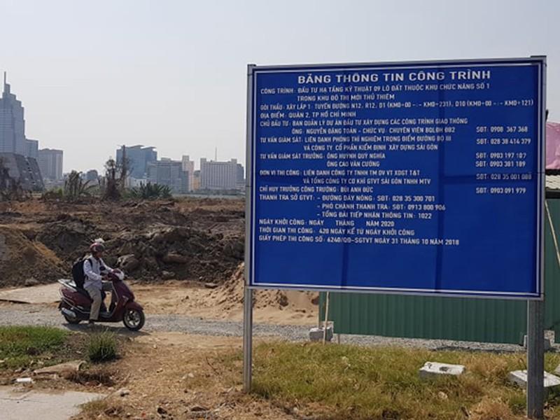 Khởi công dự án hạ tầng 600 tỉ đồng ở Thủ Thiêm - ảnh 1