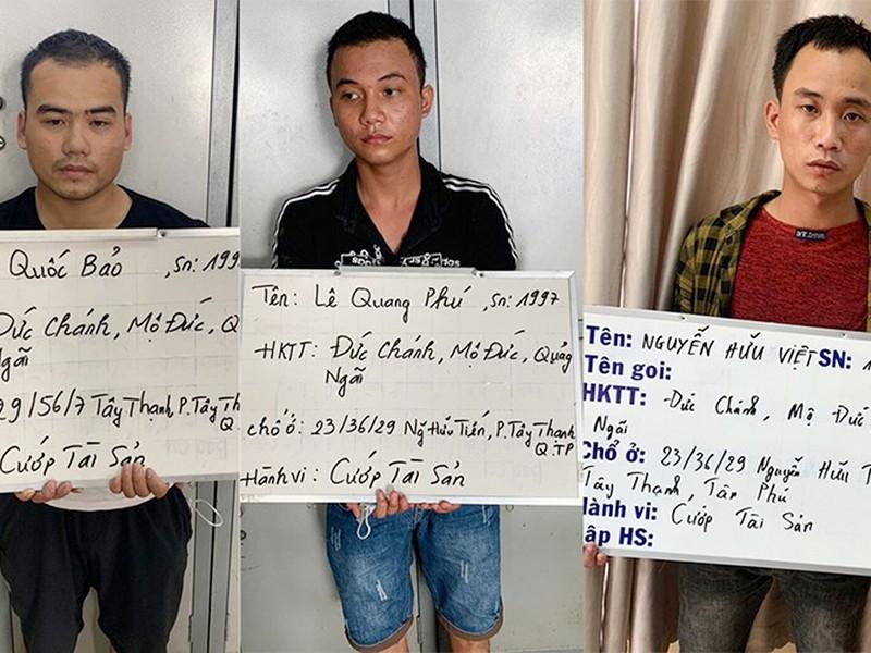 Công an bắt 2 nhóm cướp ở Bình Thạnh, Tân Phú - ảnh 1