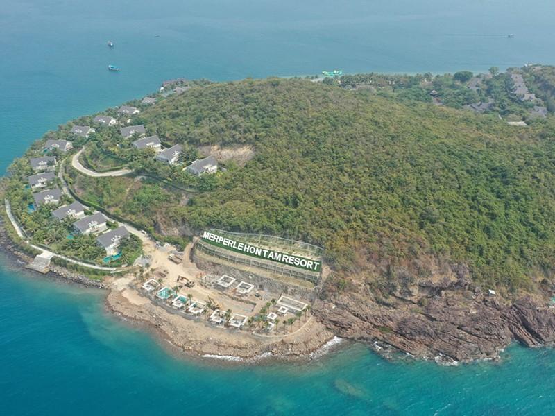 Chủ đầu tư khu du lịch đảo Hòn Tằm tự ý lấn biển - ảnh 1