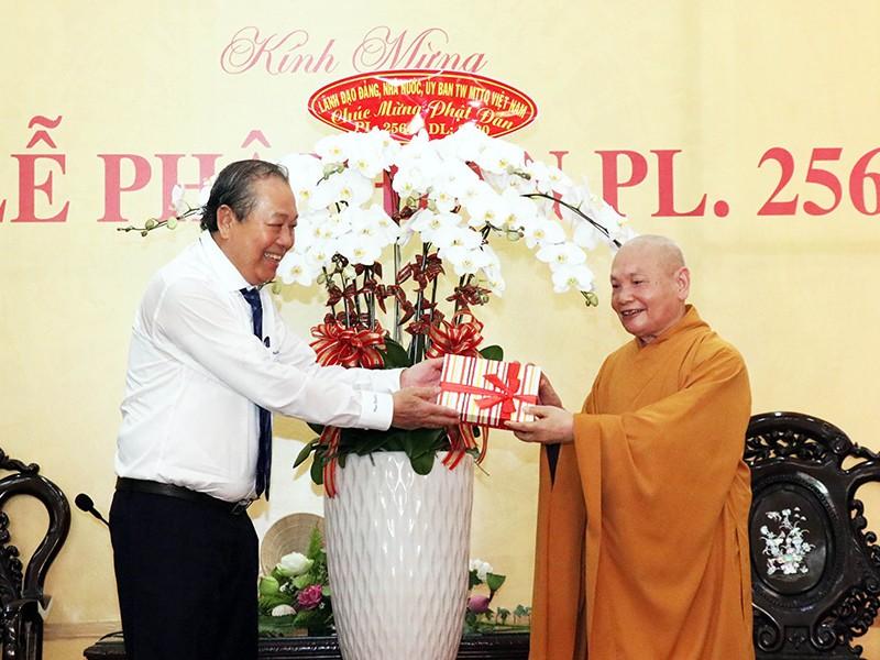 Phó Thủ tướng Trương Hòa Bình chúc mừng đại lễ Phật đản - ảnh 1