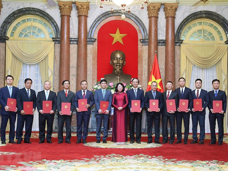 Phó Chủ tịch nước trao quyết định bổ nhiệm 12 đại sứ - ảnh 1