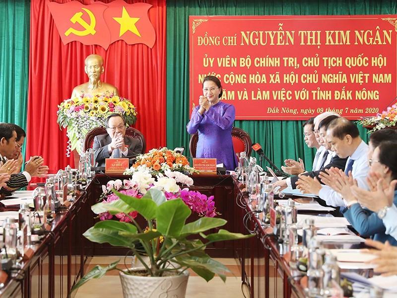 Chủ tịch Quốc hội làm việc với cán bộ chủ chốt tỉnh Đắk Nông - ảnh 1